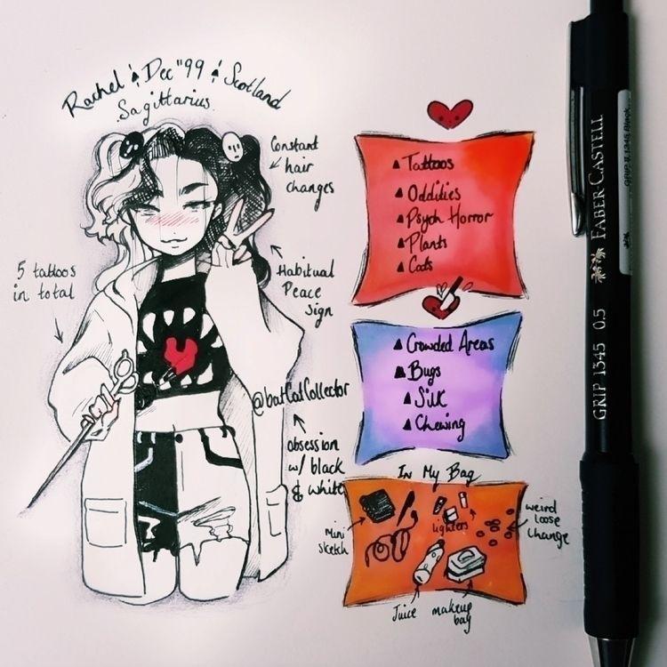meettheartist intro app!  - illustration - batcatcollector | ello