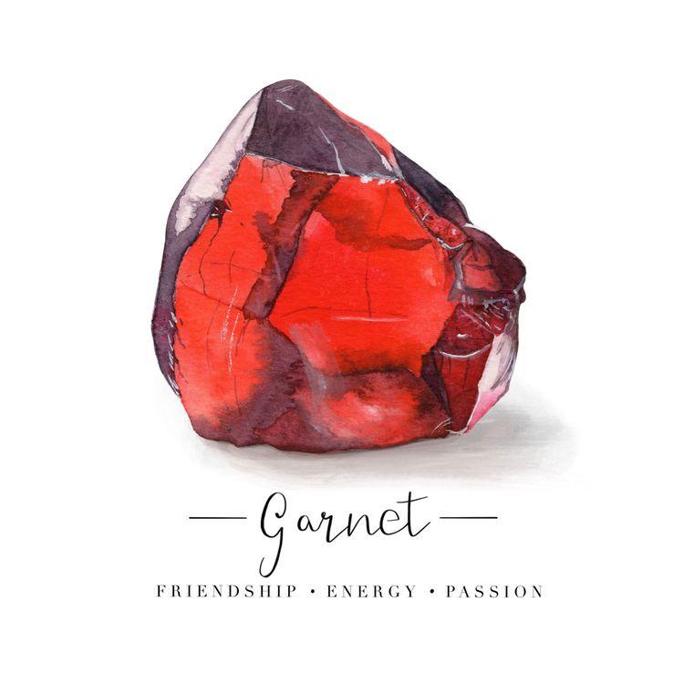 birthstone series - Garnet (Jan - thecrystalcanvas | ello
