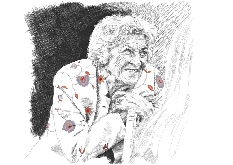 finished portrait great aunt we - edwardlodge | ello