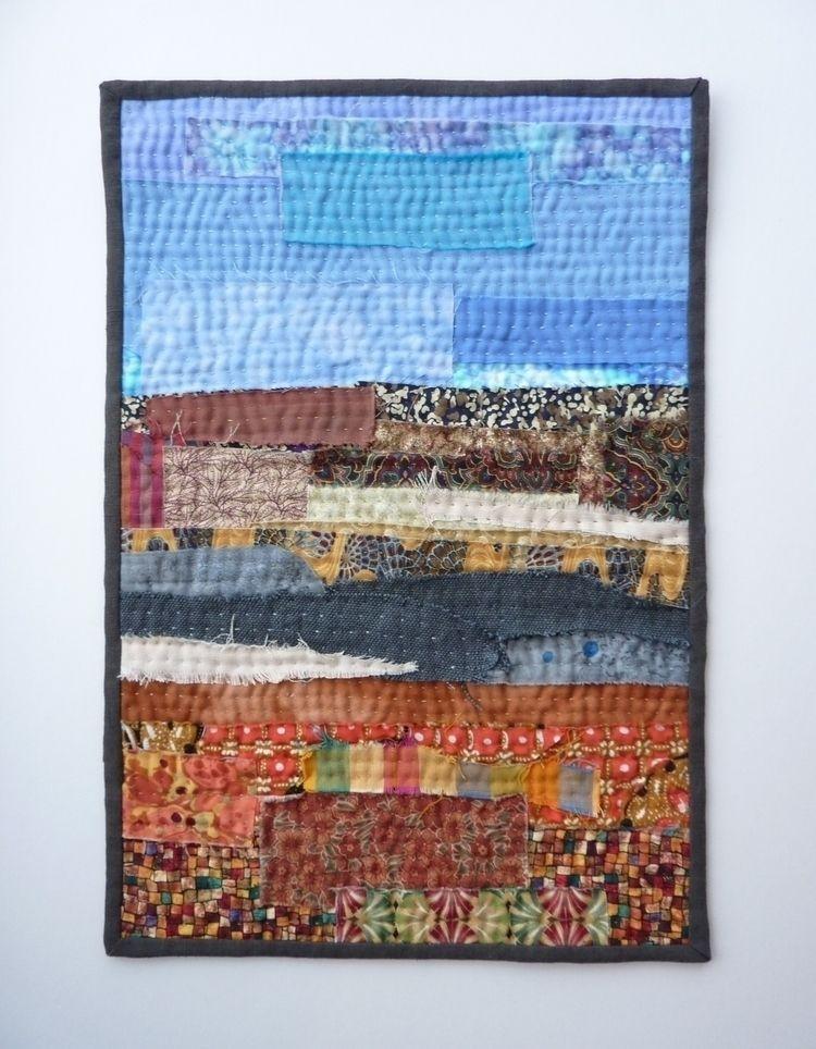 Abstract Landscape - layers raw - firehorsetextiles | ello