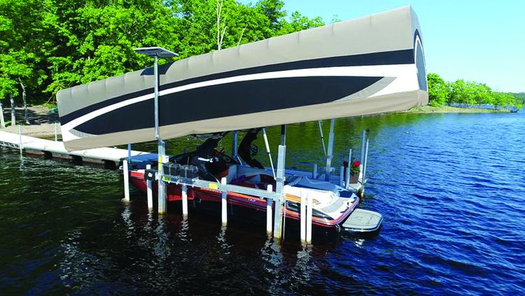 full custom boat lift installat - atkinmarineservices | ello