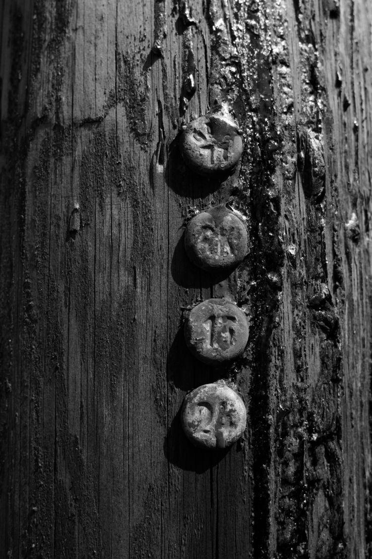 Fibre - photography, tar, wood, pole - marcushammerschmitt | ello