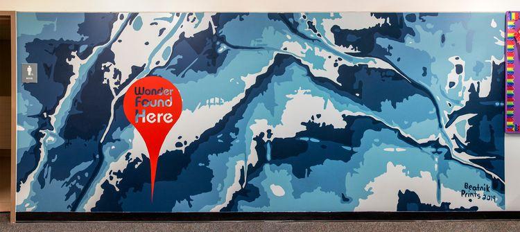 topography north Denver painted - beatnikprints | ello