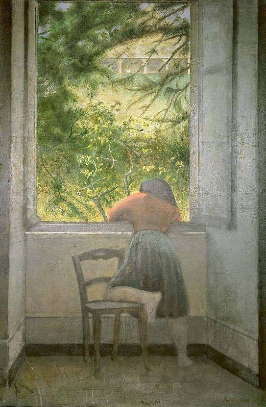 Balthus: Girl Window, 1954 - arthurboehm | ello