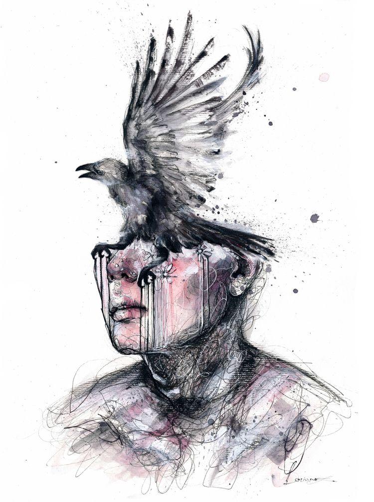 Nevermore - art, drawing, painting - ibreathart   ello