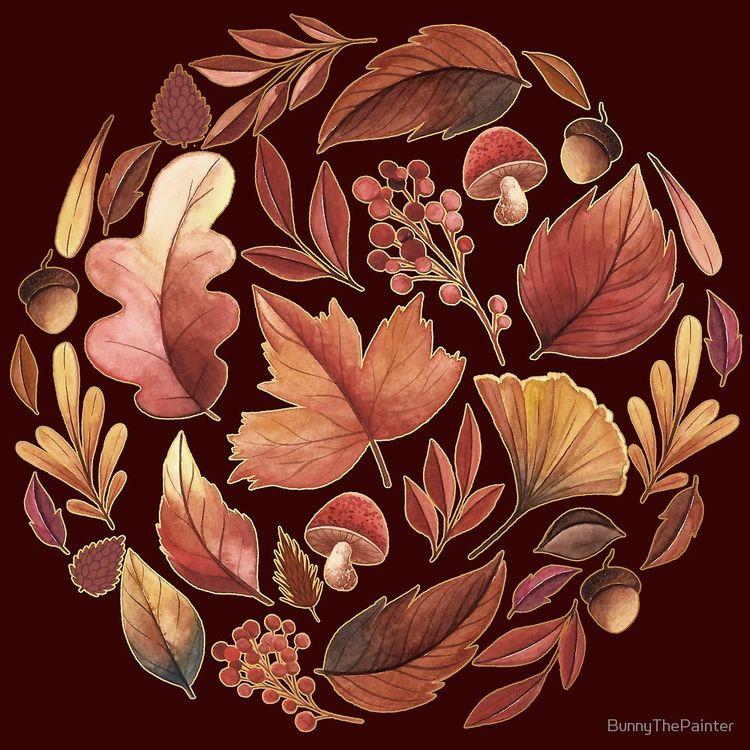 autumn painting today. thinks f - littlebunnysunshine | ello