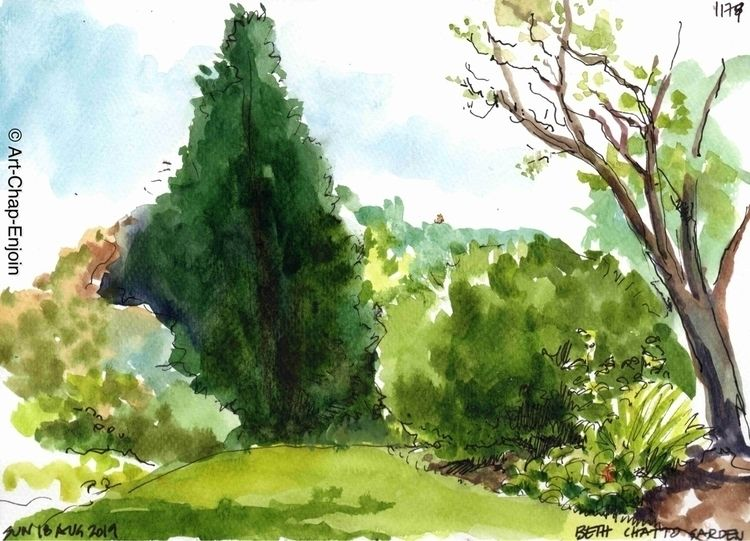 1179 - Beth Chatto garden Sunda - artchapenjoin | ello