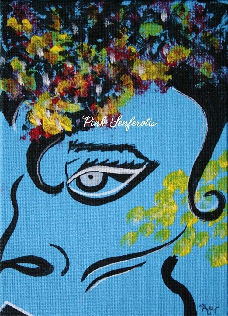SELMA. original acrylic canvas  - pink_senferotis | ello