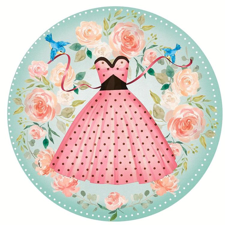 Roses Bluebirds Perfect Polka D - littlebunnysunshine | ello
