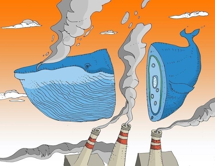 Smoke Whale  - whale, smoke, contaminacion - irwingb   ello