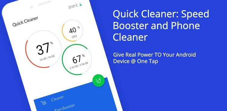 Quick Cleaner, run apps high sp - phonecleanertool | ello