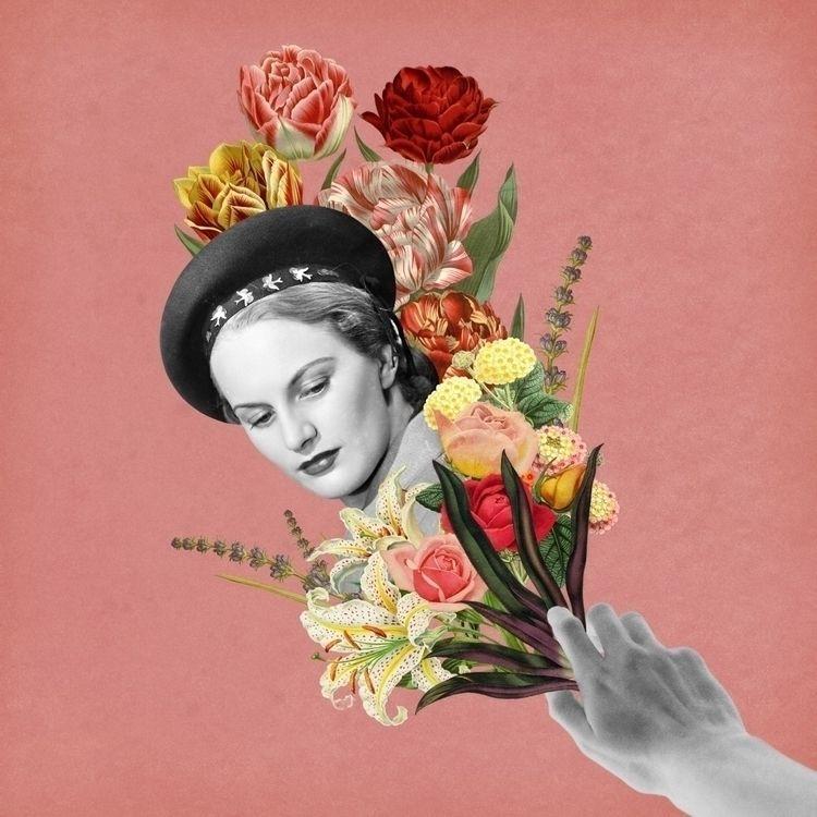 September Flowers - collage, digitalcollage - soyfelicitas   ello