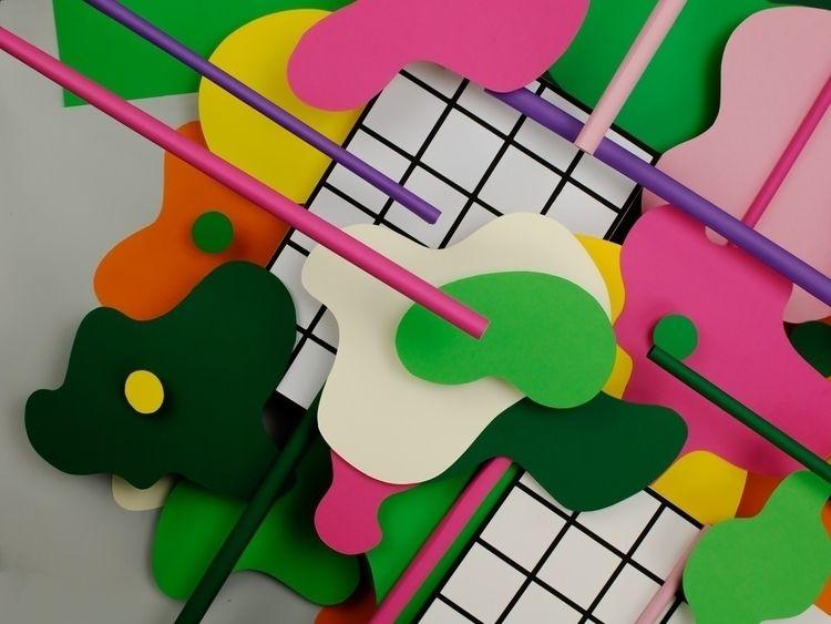 Grids blobs - paper, paperart, setdesign - hampusha   ello