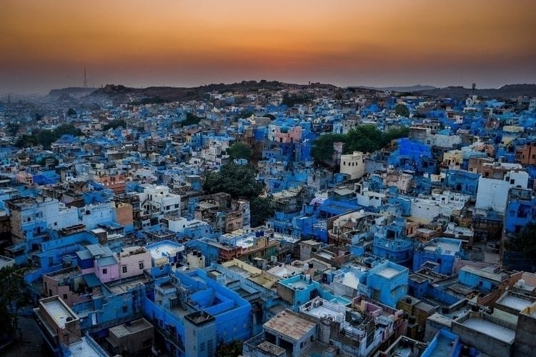 Hopping rooftops blue city Johd - benjamineil | ello