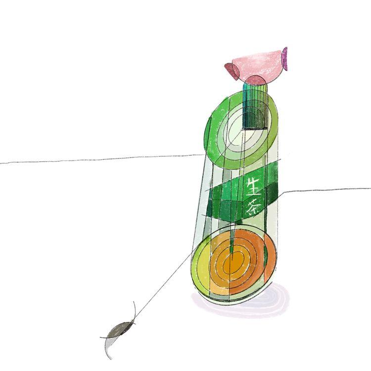 Green Tea painting - illustration - kobayashi_issa | ello