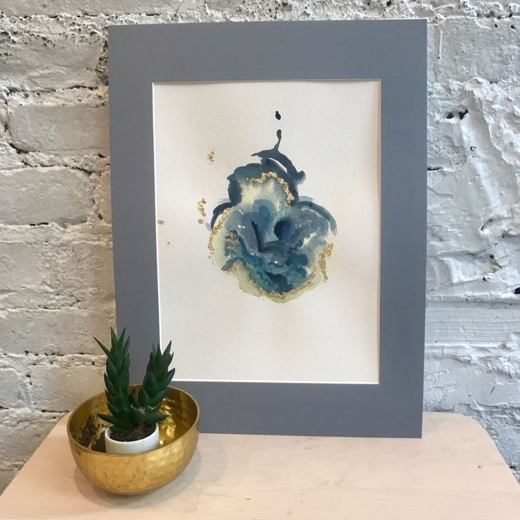 """Flora"" - 9x12 watercolor gold  - tartart | ello"