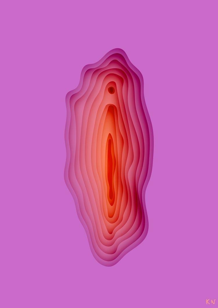 Viva la vulva  - digitalart, pink - kristine_sn | ello