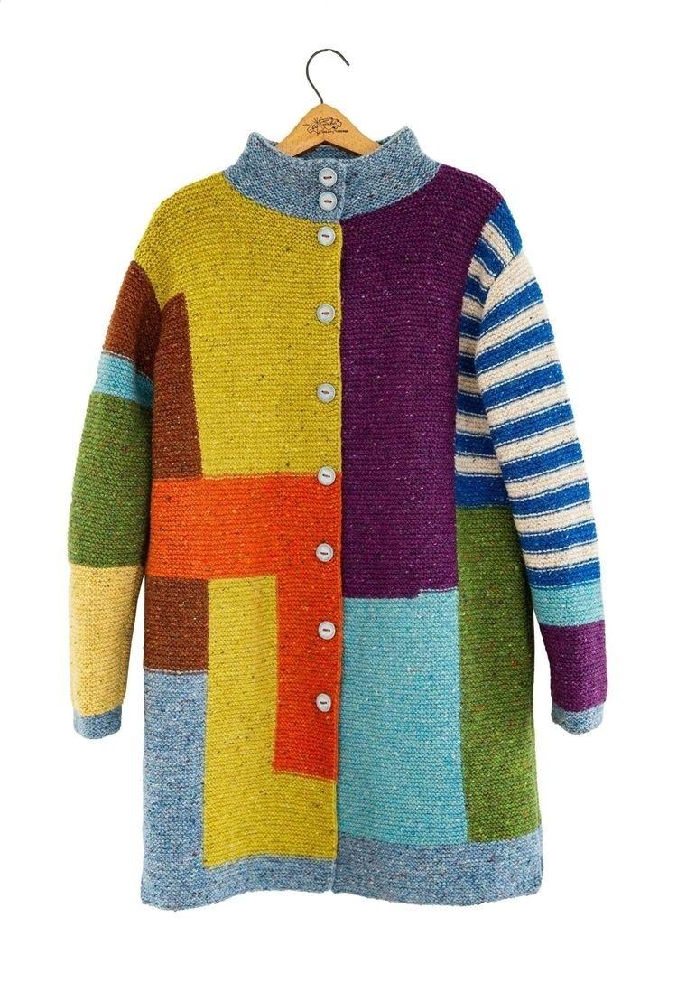 Tweed knitted cardigan - handmade - zolychka | ello