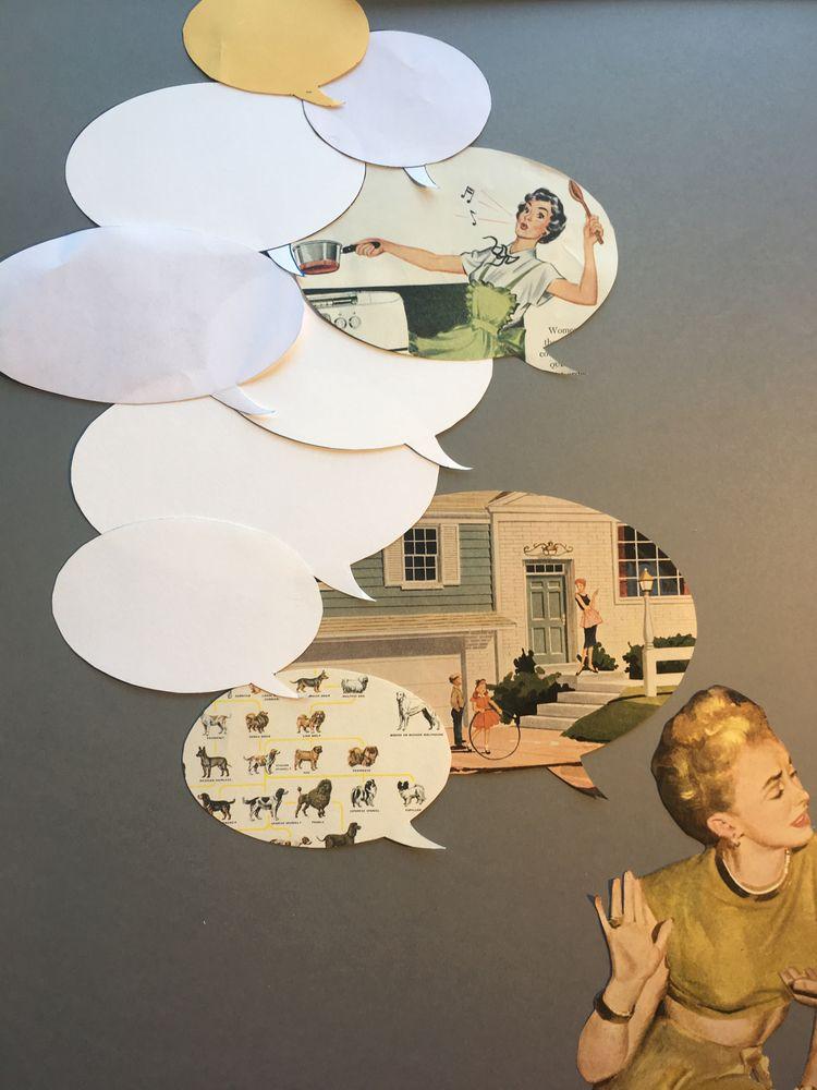 Process - collage, paperart, vintage - danielletcole | ello