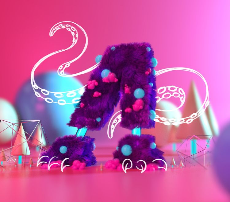 3D type monster composition ill - chriswinterton | ello