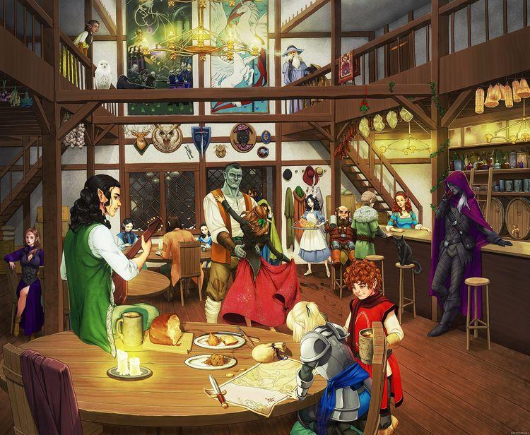 Evening Ashfire Inn- Dungeons D - ghostfire | ello