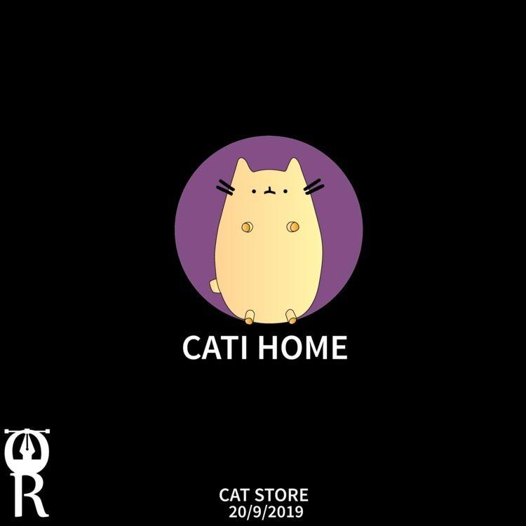 Cat store logo design - omarraaftdesginer | ello