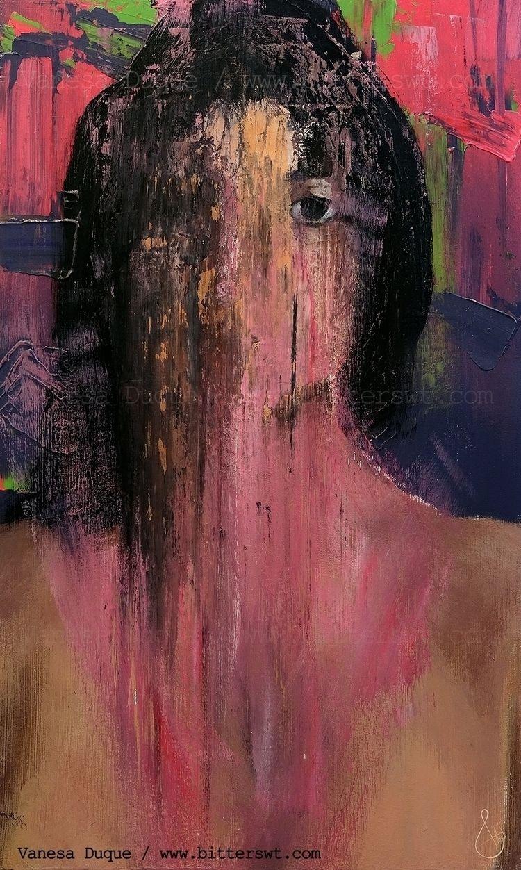 Acrylic artwork, untitled felt  - bitterswt | ello