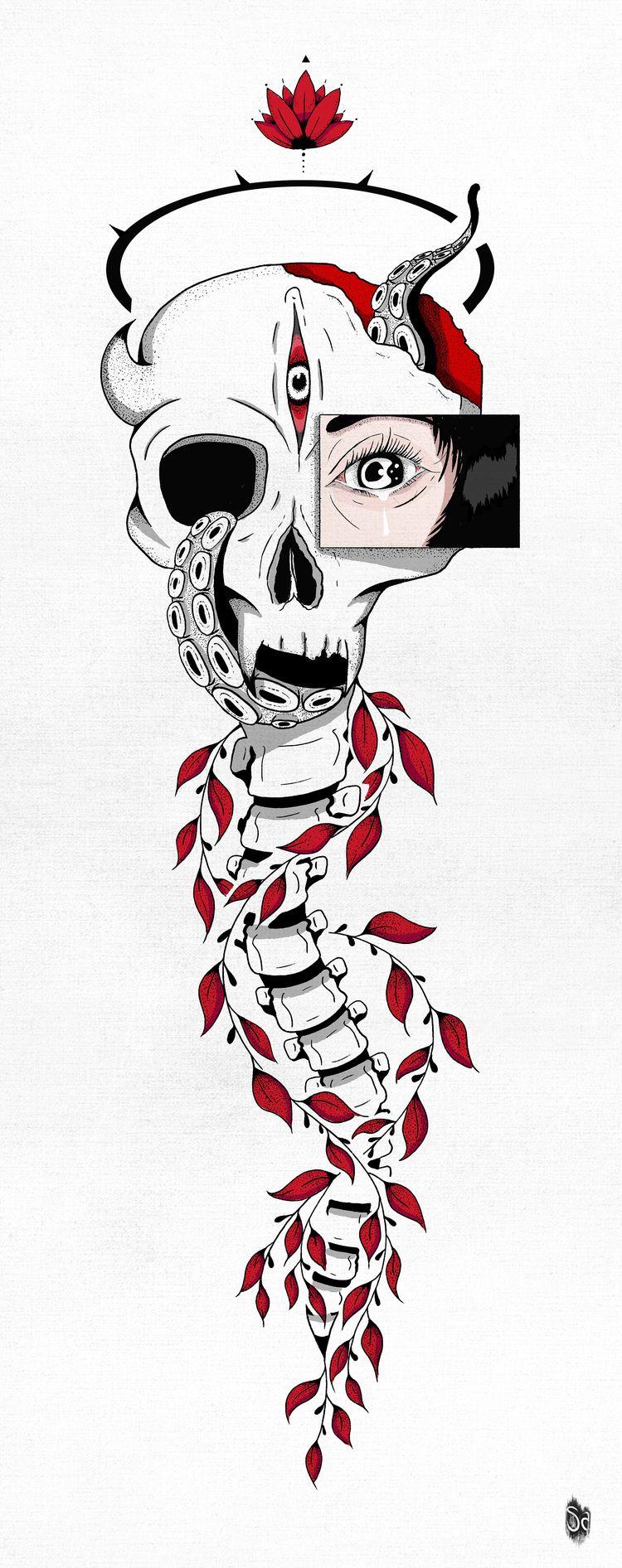 Zorrolan - Drawing, Skull, Woman - selametalkan   ello