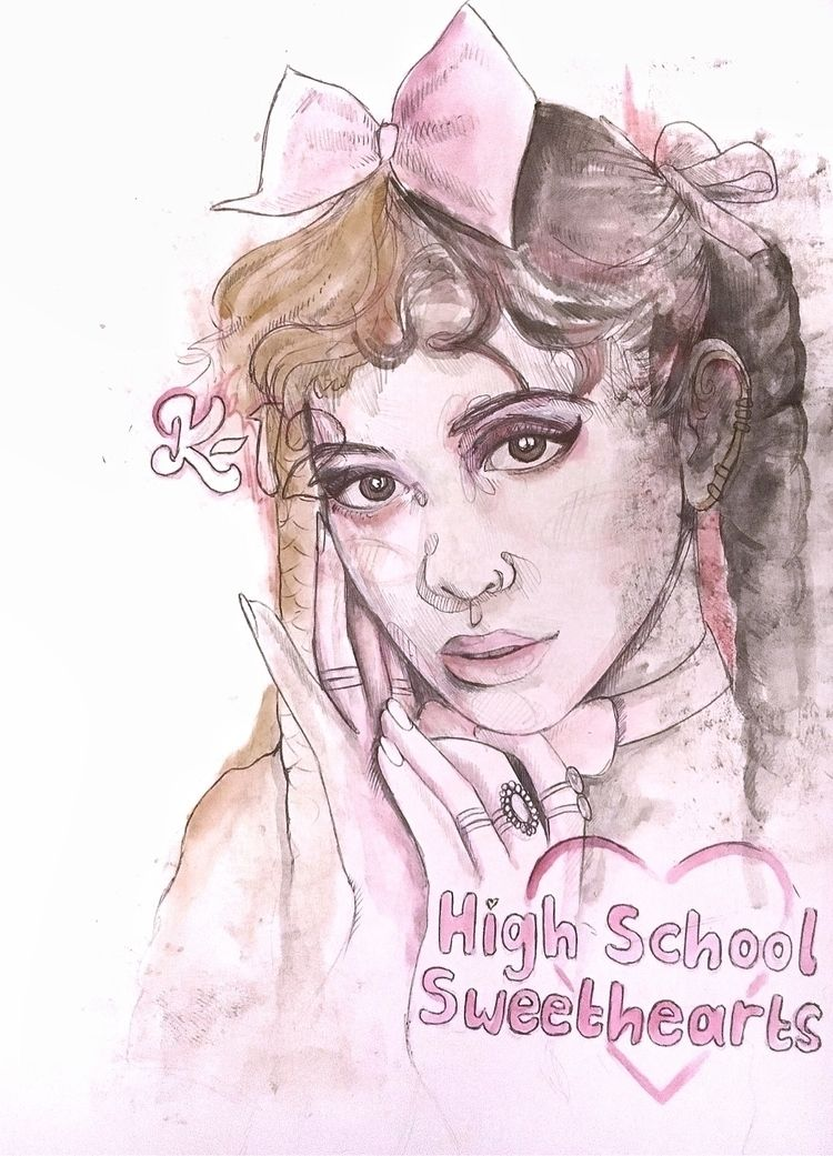 A4 mixed media portrait Melanie - jordansummers | ello