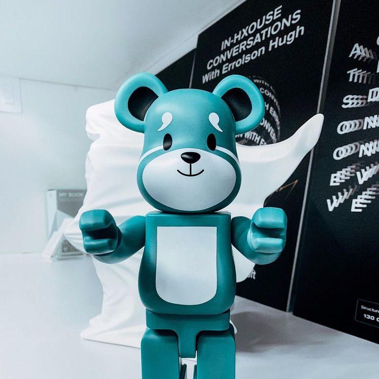 Super Fantastic Bearbrick - XO, theweeknd - limmidy   ello