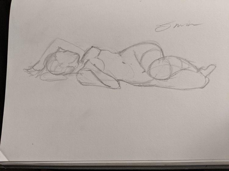 5 minute gesture drawing - chutsart | ello