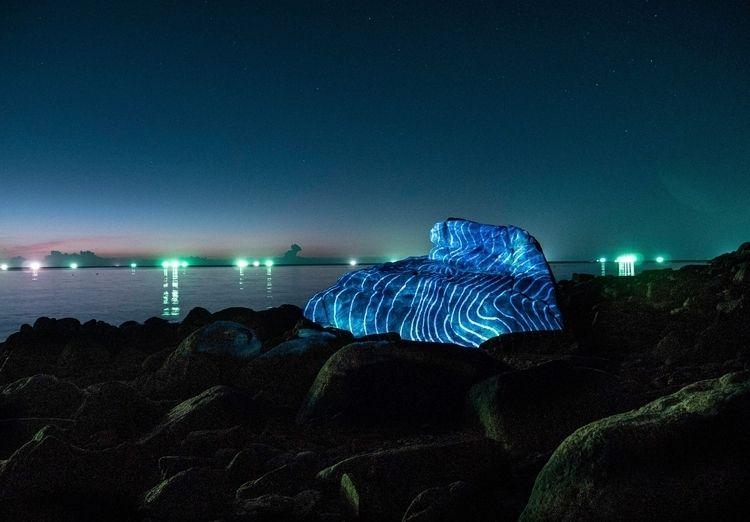 Projection Mapping rocks coast  - philipp_frank | ello