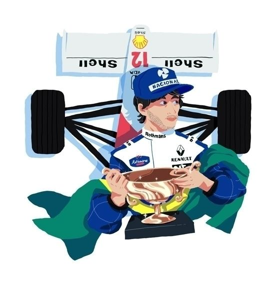Ayrton Senna - Formula1 - h4rlock | ello