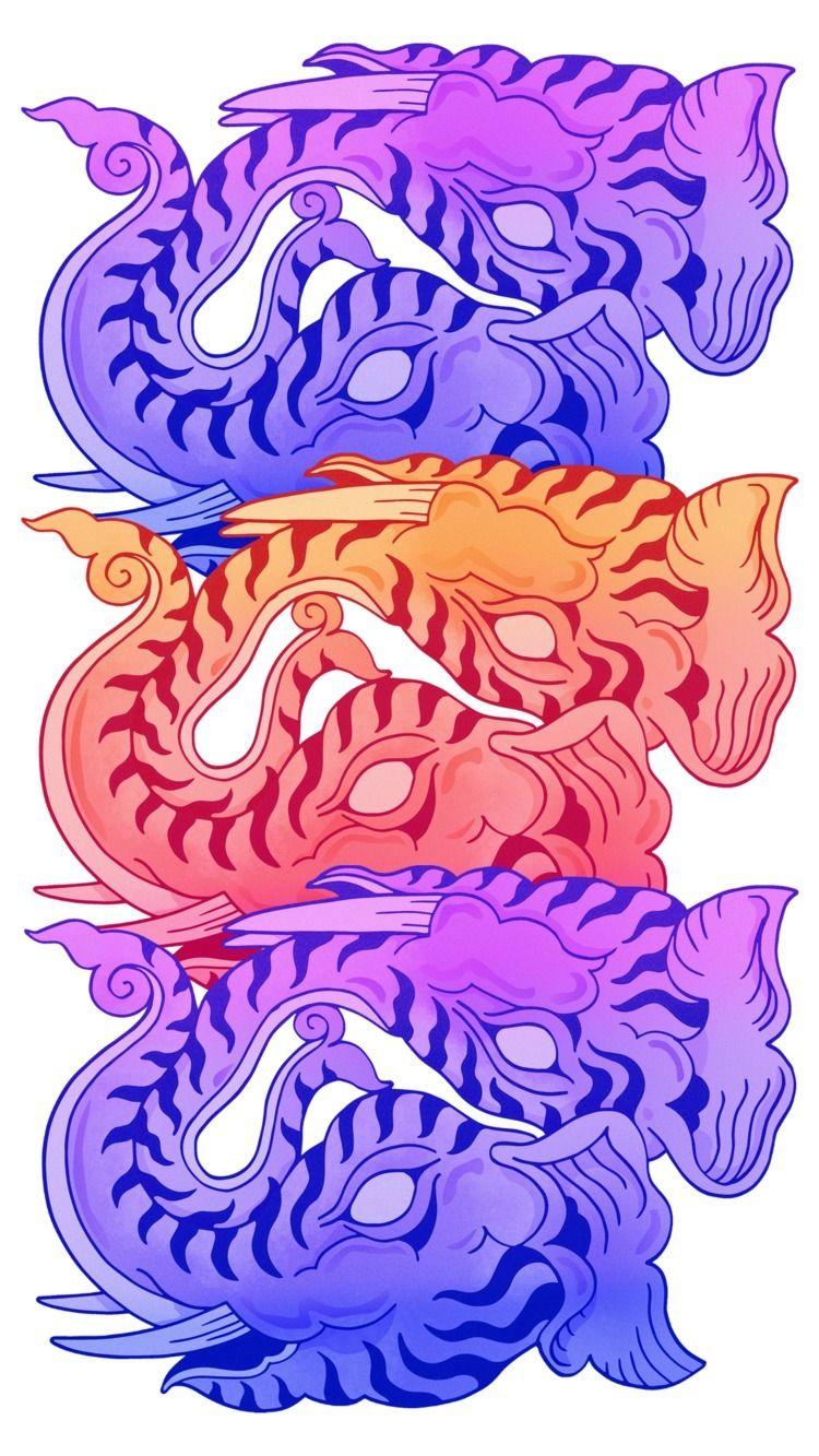 'Elephant Tigers - servalfandango | ello