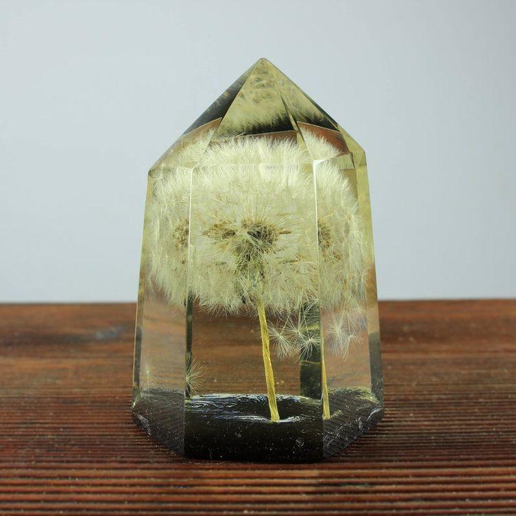 Delicate dandelion encased crys - woodallgood   ello