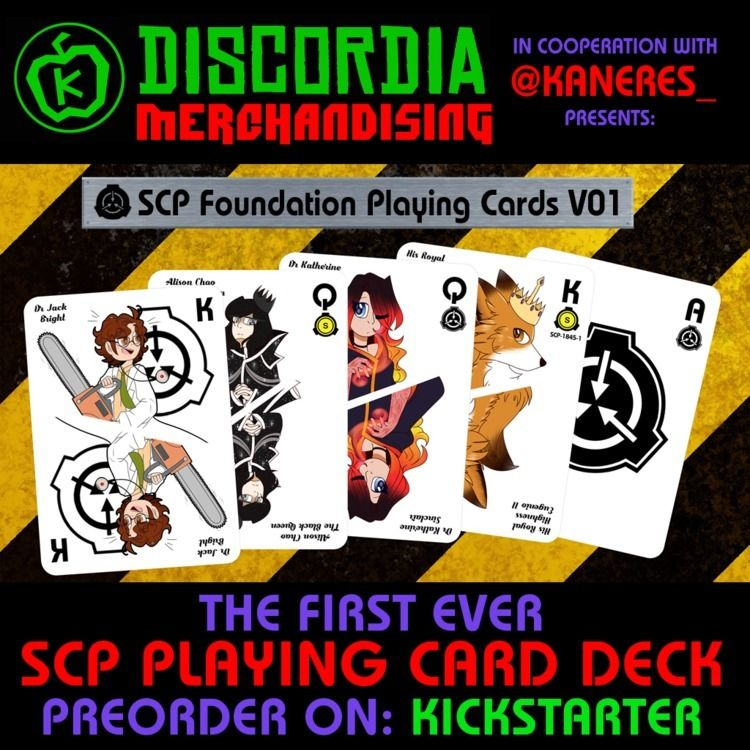 SCP Foundation PLAYING CARDS V0 - gavrieldiscordia | ello