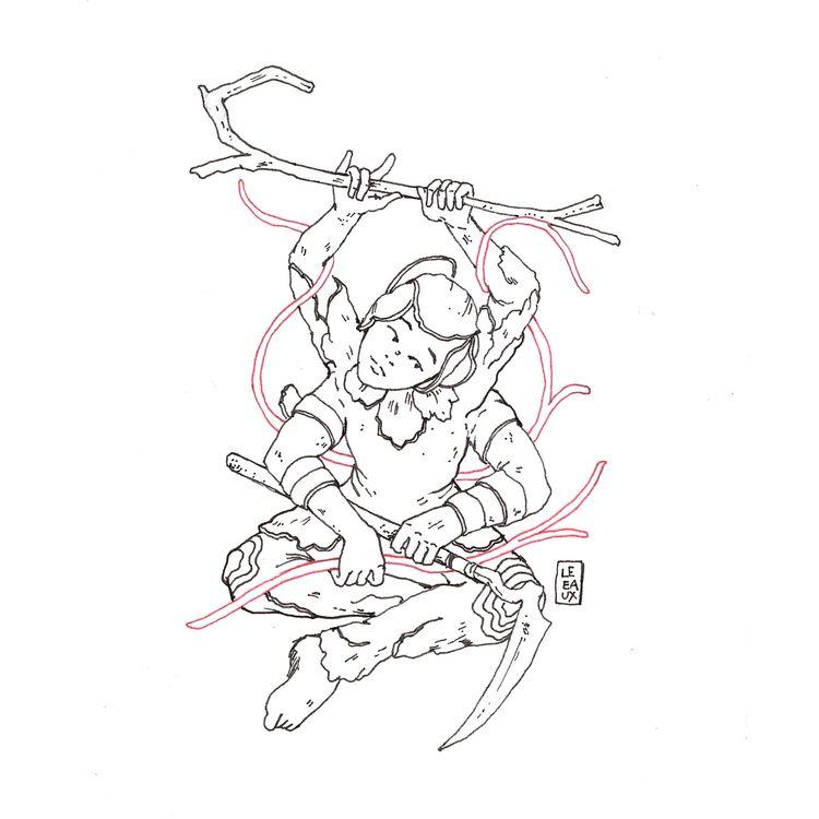 04 - floral messorem - inktober - leeaux   ello