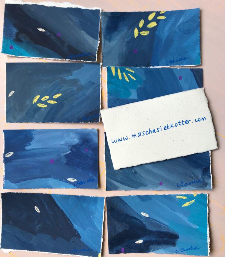 Handmade business cards - maschasiekkotter | ello