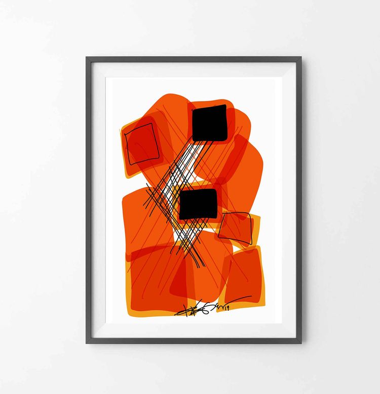 Title: Orange Black II Digital  - regiaart | ello