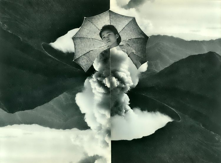 Collage Bep Broos - art#collage#analogcollage#volcano#clouds - bepbroos | ello