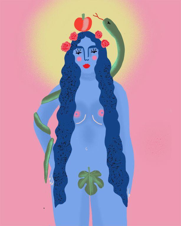 Eva - adamoandeva, illustation, woman - clorophilla   ello