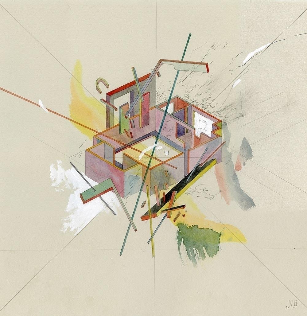 Station Watercolor, acrylic, gr - jacobvanloon | ello