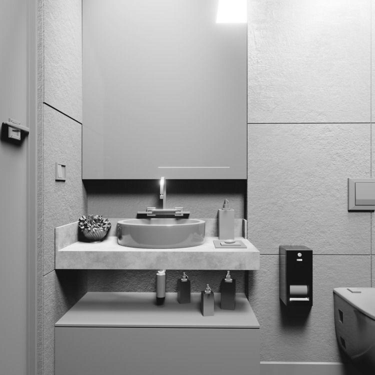 Bathroom 3D Blender Render Cycl - mateuskria   ello