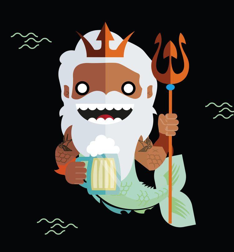 Poseidon, godsanddemigods, 2019 - libedlulo   ello