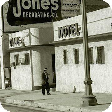 door Jones Decorating sits Oliv - stripeycity   ello