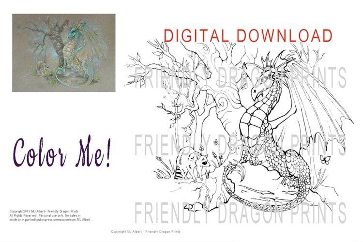 Digital download - Color dragon - mjalbertsculpts | ello