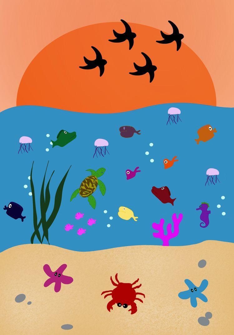 Sunset Ocean - irenetinchelli | ello
