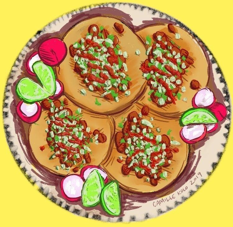 SNACK ATTACK!! tacos al pastor  - camillekolo   ello