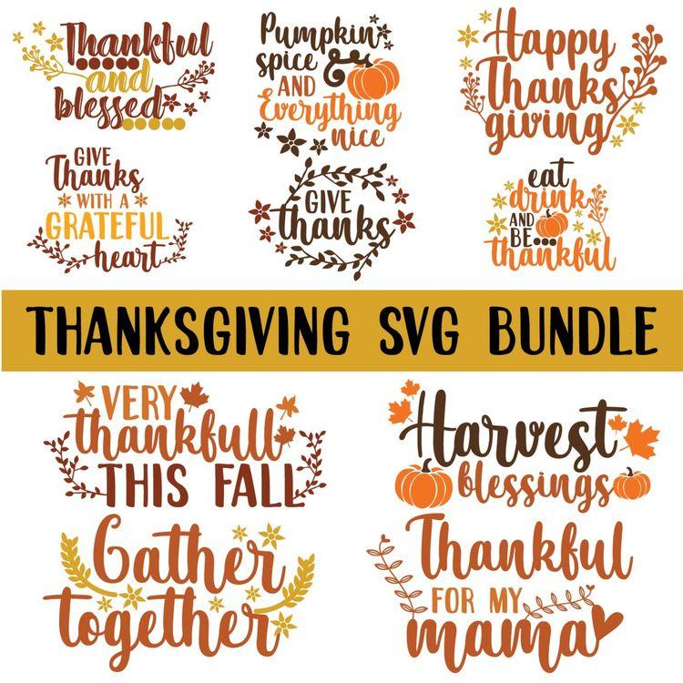 THANKSGIVING BUNDLE /SVG/PNG - thanksgiving - annijajansone | ello