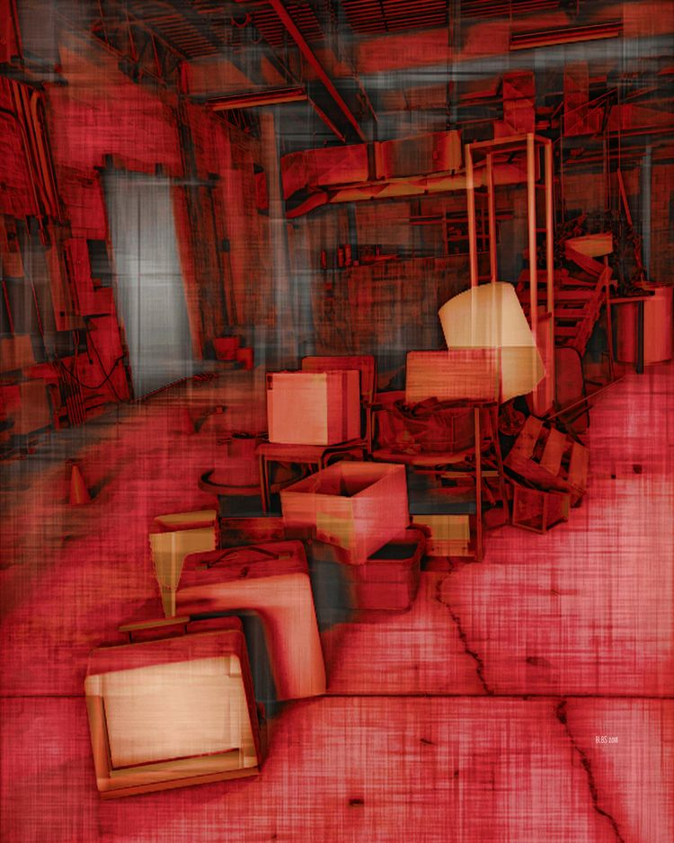Abandoned - Red digitally manip - barbaralbs | ello